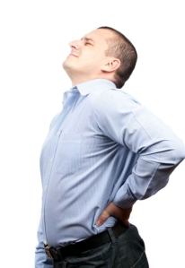 Stressed Man With Back Pain