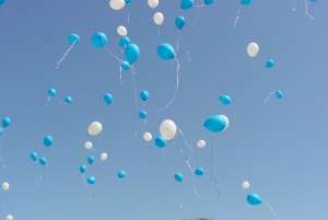 Released balloons